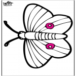 Animals coloring pages - Pricking card butterfly