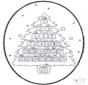 Pricking card - Christmas calendar