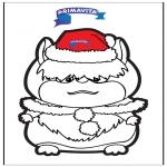 Crafts pricking cards - Pricking card hamster
