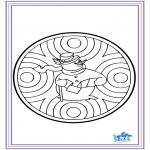 Crafts pricking cards - Pricking card - winter 6