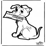 Crafts pricking cards - Prickingcard 101 dogs 4