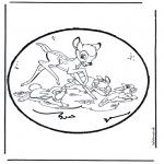 Crafts pricking cards - Prickingcard bambi 1