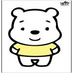 Crafts pricking cards - Prickingcard bear