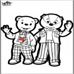 Crafts pricking cards - Prickingcard - Brownie bear