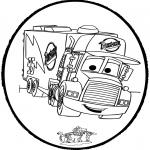 Crafts pricking cards - Prickingcard - Cars