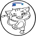 Crafts pricking cards - Prickingcard cat