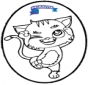 Prickingcard cat