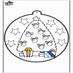 Christmas coloring pages - Prickingcard Christmas tree 1
