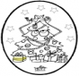 Prickingcard Christmas tree 3