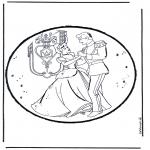 Crafts pricking cards - Prickingcard Cinderella 1