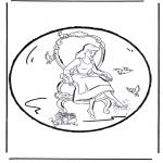 Crafts pricking cards - Prickingcard Cinderella 2