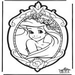 Crafts pricking cards - Prickingcard Disney Princesses 1