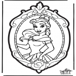 Crafts pricking cards - Prickingcard Disney Princesses 2