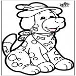 Crafts pricking cards - Prickingcard - dog 1