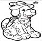 Prickingcard - dog 1