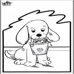 Crafts pricking cards - Prickingcard - dog 2
