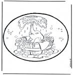 Crafts pricking cards - Prickingcard Dumbo