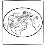 Crafts pricking cards - Prickingcard Lion King