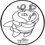 Crafts pricking cards - Prickingcard Pokemon 1