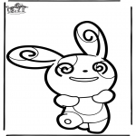 Crafts pricking cards - Prickingcard Pokemon 5
