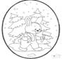Prickingcard rabbit