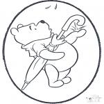 Crafts pricking cards - Prickingcard Winnie 2
