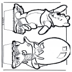 Crafts pricking cards - Prickingcard Winnie 5