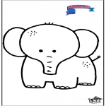Kids coloring pages - Primalac elephant