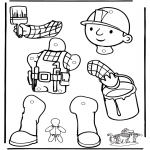 Crafts - Pull-puppet Bob the Builder 1