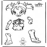 Crafts - Pull-puppet Winx