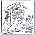 Kids coloring pages - Punch and judy show