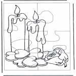 Crafts - Puzzle candles