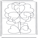 Crafts - Puzzle flower