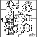 Crafts - Puzzle Hello Kitty