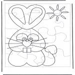 Crafts - Puzzle rabbit
