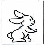 Animals coloring pages - Rabbit 1