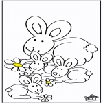 Animals coloring pages - Rabbits 2