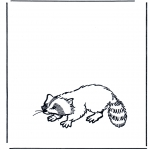 animals coloring pages - Raccoon