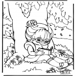 Kids coloring pages - Reading 1