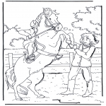 Animals coloring pages - Rearing horse
