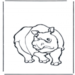 animals coloring pages - Rhino 1