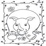 Animals coloring pages - Rhino 2