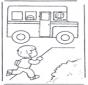 Run for school bus