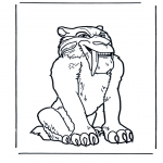 Animals coloring pages - Saber tooth cat