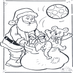 Christmas coloring pages - Santa claus