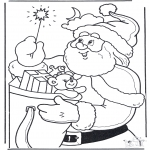 Christmas coloring pages - Santa Claus with staff