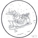 Crafts pricking cards - Santa  prickingcard