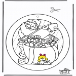 Christmas coloring pages - Santa Windowpicture