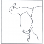 Animals coloring pages - Seagull on a rock