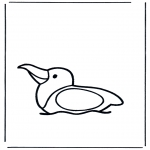 Animals coloring pages - Seagull on water